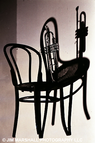 Chair and trumpet