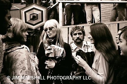 Brian Jones, Nico of Velvet Underground fame, and actor Dennis Hopper and Judy Collins