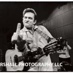 Johnny Cash flips the bird.