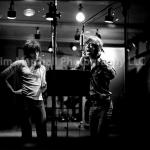 Keith Richards and Mick Jagger in the recording studio, 1972