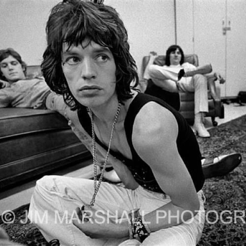 MIck Jagger backstage, 1972