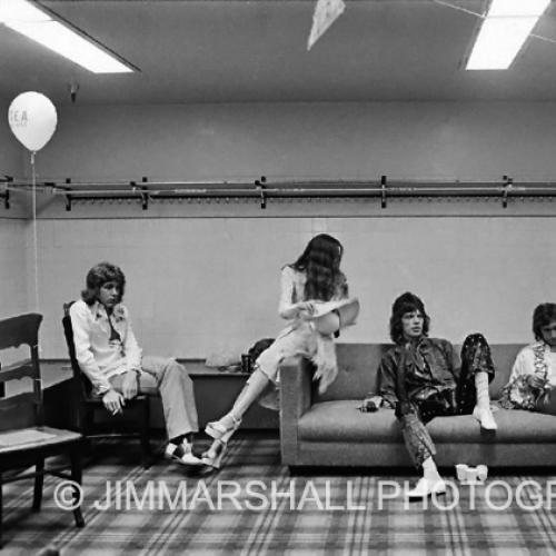 Rolling Stones, backstage, 1972 tour