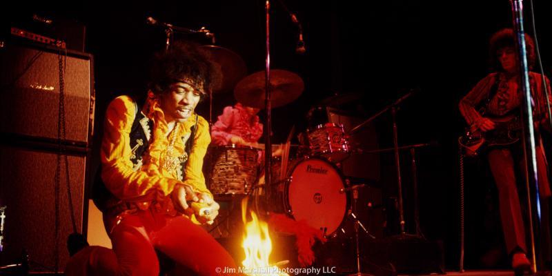 Jimi Hendrix Burning His Guitar