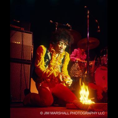 Jimi Hendrix burning his Strat, Monterey Pop Festival, 1967