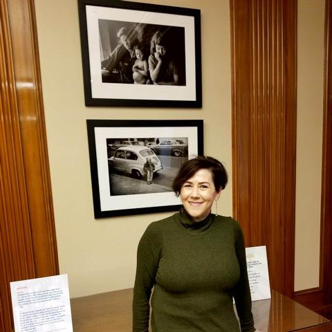 Amelia Davis at American Civics exhibit