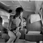 Mick Jagger on an airplane, 1972